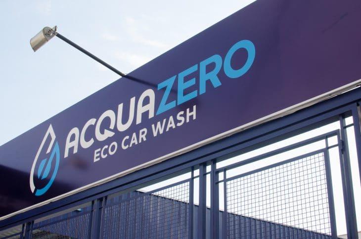 Franquia Acquazero: fachada de uma das lojas da marca