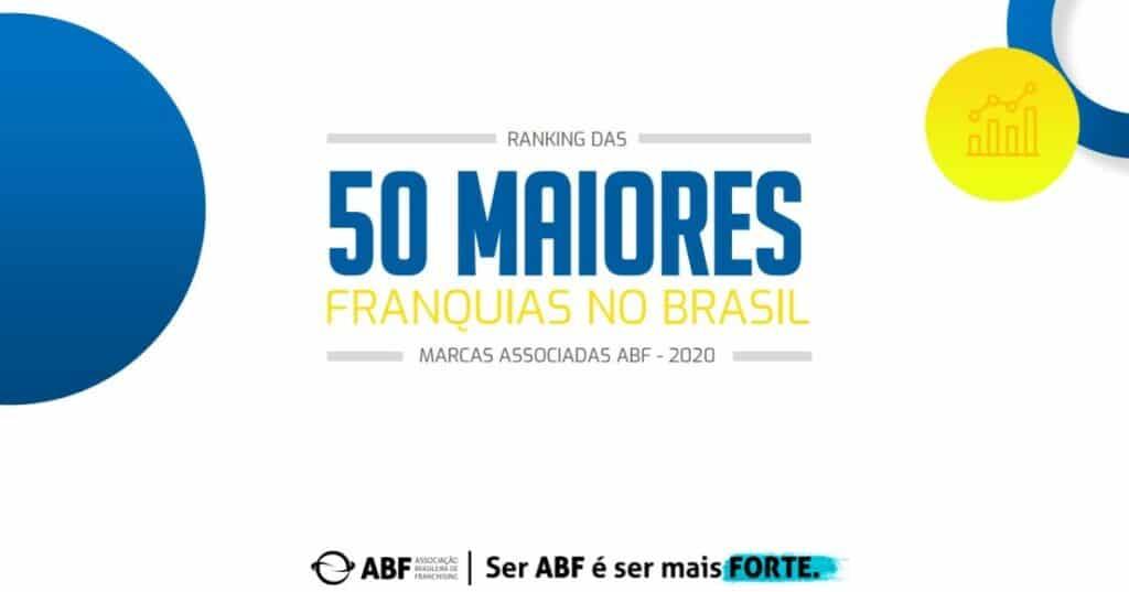 Foto da apresentação da ABF, com a lista de 50 maiores franquias. Imagem ilustrativa para texto maiores franquias brasileiras.