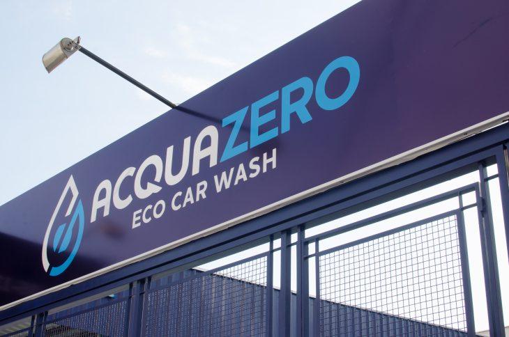 Fachada de uma unidade da Acquazero. Imagem ilustrativa do texto lavar carro Rio de Janeiro.