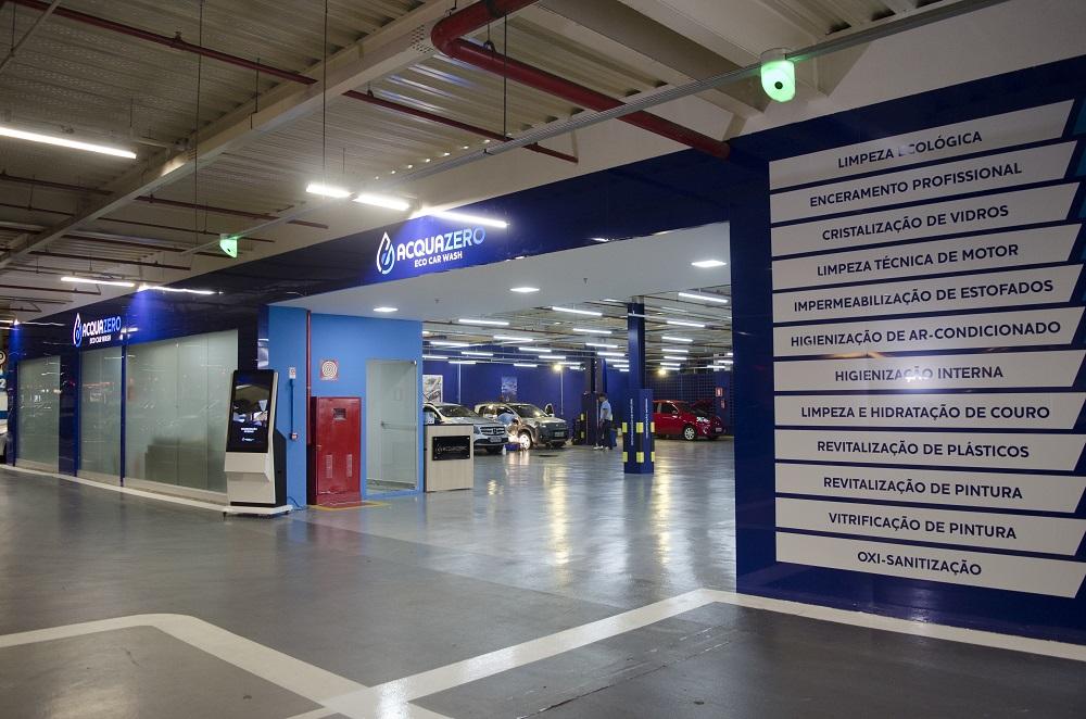 Foto da fachada de uma unidade Acquazero. Imagem ilustrativa para o texto franquia de limpeza ecológica.